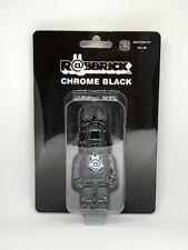 MEDICOM TOY CHROME BLACK 100% RABBIT BE@RBRICK R@BBRICK BEARBRICK