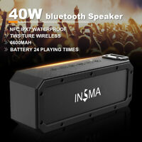 40W bluetooth Speaker W/ NFC Wireless Portable Waterproof Subwoofer Stereo AM/FM