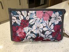 Roxy Pink White Floral Womens Washbag Makeup Bag