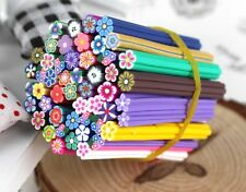 10 Pcs Mix Fimo Canes Flowers Rod Polymer Clay 3D Nail Art Sticker Decoration