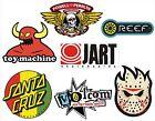 7 pegatinas Skate, Snow, Surf - Toy Machine, Reef, Jart, Volcom, Powell Peralta