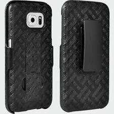 Shell/Holster Combo with Kickstand for Samsung Galaxy S 6 - Black