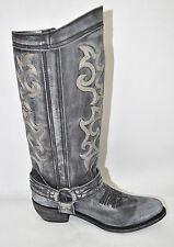 Women's Liberty Black Tall Boots Vintage Gray Negro #LB-711135-NEG Size 10