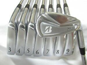 Used RH Bridgestone J40 Forged Iron Set 3-P Stiff Flex Steel Shafts
