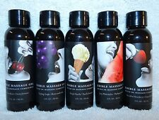 Earthly Body Massage Oil Body Lube Edible Flavored 2 oz Natural Vegan