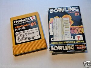 Fairchild Video Game System Cartridge Videocart 21 Bowling with Box #WD6