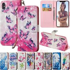 For iPhone XS Max XR X 5s 6s 7 8 Plus Wallet Card Holder Flip Leather Case Cover