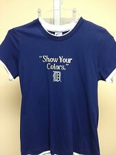 G-III Detroit Tigers Navy T-shirt Womens Sample Large