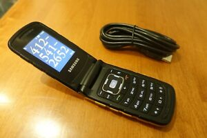 *VINTAGE* Samsung RUBY SGH-A847D YELLOW Flip Fold CELL PHONE LARGE Button SPORT