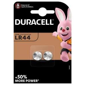 2 Piles LR44 / A76 / V13GA Duracell Alcaline 1,5V