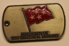United States Southern Command Gen Charles Wilhelm Marine Challenge Coin