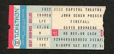 1977 Firefall David Bromberg Pierce Arrow concert ticket sub Capitol Theatre Nj