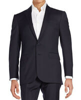 $1,895 Ralph Lauren Black Label Italy Mens Slim Navy Anthony Striped Wool Suit
