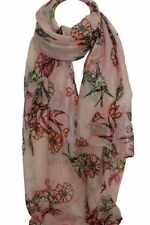 Polyester Floral Scarves & Wraps Stole for Women