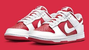 Nike Dunk Low Championship Red Size 9.5 (DD1391600) In Hand 9/17/21