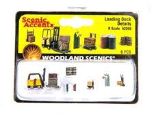 N Scale Woodland Scenics A2208 Forklift & Loading Dock Details Figures (6) pcs