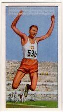 Triple Jump Schmidt Poland 1960 Olympic Gold Medal Vintage Trade Card