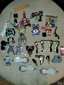 Vintage Power Rangers Bandai Megazord  Ranger Parts Lot of over 30 Pieces