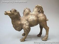 "11""Chinese Tibet Lovely Brass Animal Bactrian camel (ship of the desert )Statue"