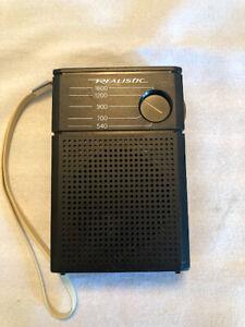 Radio Shack Vintage Realistic AM Flavoradio 12-201 Pocket Radio Tested