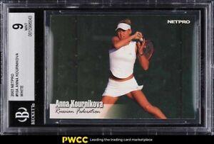 2003 Netpro Tennis Anna Kournikova ROOKIE RC #10 BGS 9 MINT