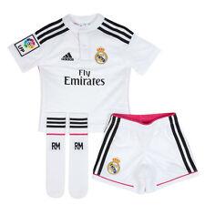 Camisetas de fútbol de clubes españoles equipaciones completan para niños de real madrid