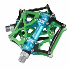 ROCKBROS MTB Bicycle Pedals Cycling Platform Aluminum Alloy 9/16'' Spindle Green