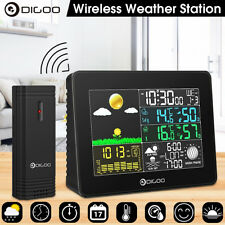 Digoo LCD Wireless Réveil Station Météo Température Humidité Sensor IN&Exterieur