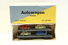 Dahmer 5133/510/1 Autotransport mit 4 Trabant, 2-achsig, OVP, NEUWERTIG