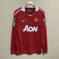 Manchester United #7 Halliday Nike 2010/2011 Soccer Football Jersey Mens Small