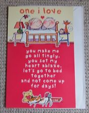 one i love valentine's day Greetings Card LARGE