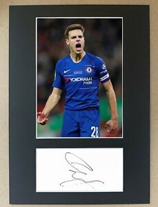 César Azpilicueta Hand Signed A4 Display Chelsea Spain Autograph FA Cup UCL EPL