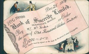 Sincere wishes friendship bank cheque design