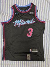 Dwayne Wade #3 Miami Vice City Edition Mens Swingman Black Jersey Large
