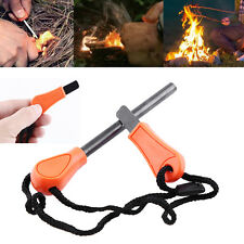Durable Survival Magnesium Flint Fire Starter Rod Lighter Stick Camping Tool DY