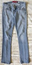 Guess Stretch Denim Jeans 5 Pocket Women's Worn Look Size 27 Inseam 32