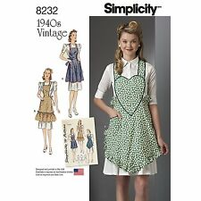 Simplicity Pattern 8232 A Small - Large 1940'S Vintage Aprons New