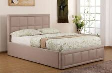 Sweet Dreams Sia Double 135cm 4FT6 Tan Fabric Ottoman Storage Bed Frame