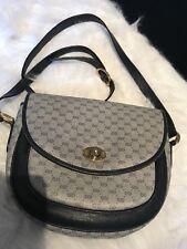 Vintage Gucci blue messenger crossbody purse rare