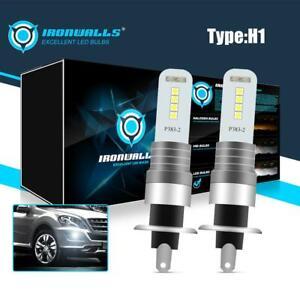 2PCS H1 6000K White 100W 10000LM LED Headlight Bulbs Kit Fog Driving Lights