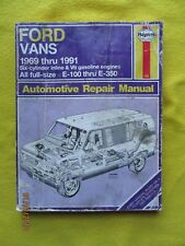 1969-1991 Ford Vans Service Automotive Repair Manual 6 cylinder V8 gas engines