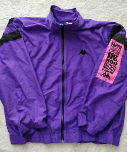 Kappa Italy 90's Vintage Multi Function Mens Track Top Jacket Purple Hype Jumper