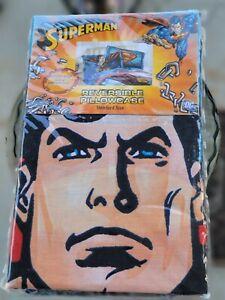 Superman Reversible Pillowcase Standard Size Brand new! Sealed!