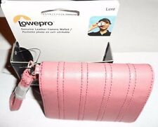 Lowepro Pink Genuine Leather Camera Wallet Case NWT!