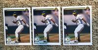 1990 Upper Deck Oakland Athletics Baseball Card #334 Rickey Henderson ~ Lot of 3