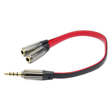 2-Way 3.5MM Jack Plug Headphone Splitter Audio Stereo Extension Earphone Y Cable