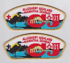 2001 Canada Scout Jamboree - USA BSA ALLEGHENY HIGHLANDS HIAWATHA SEAWAY JSP SET