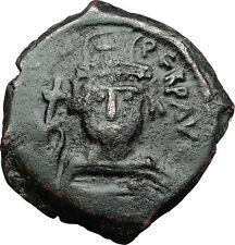 MAURICE TIBERIUS 582AD Follis Nicomedia Ancient Medieval Byzantine Coin i58424