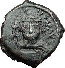 MAURICE TIBERIUS 582AD Follis Nicomedia Ancient Medieval Byzantine Coin i58424