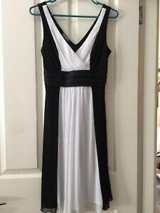 Womens Formal /Bridesmaid Dress Black & White Size 10